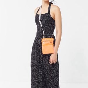 Urban outfitters Lola smocked halter jumpsuit Med.